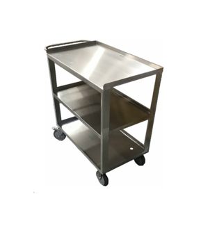 Stainless Steel 3-Shelf Pushcart