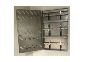 Hygienic Stainless-Steel Knife Cabinet