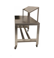 Hygienic Stainless-Steel Tables with Product Shelf