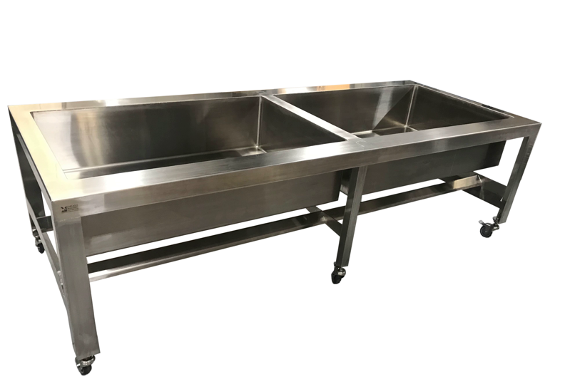 Double Large Sink Table